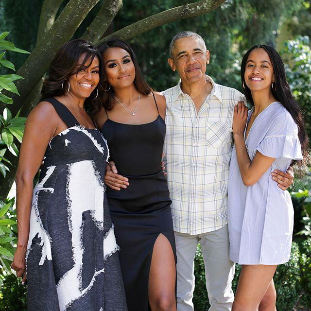 "Sasha Obama's (centre) real name is Natasha Obama. <br><br> *Image: Instagram [@michelleobama](https://www.instagram.com/p/B5YrxQQABk6/|target=""_blank""