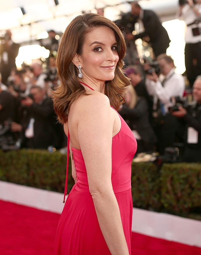 <p>Tina Fey's real name is Elizabeth Stamatina Fey.