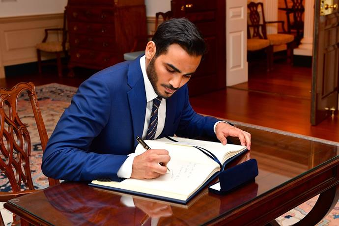 """**Sheikh Mohammed bin Hamad bin Khalifa Al Thani of Qatar, 32**<br><br>  *The prince:* The 32-year-old has an MBA from Harvard University and speaks fluent Arabic, English and French. He is also the former captain of Qatar's equestrian team and spearheaded the historic moment when Qatar won the bid to host the 2022 FIFA World Cup.<Br><br>  *The title:* His Highness Sheikh Mohammed bin Hamad bin Khalifa Al Thani.<br><br> *The locale:* Doha in Qatar.<br><br>  *Image via [Wikipedia](https://en.wikipedia.org/wiki/Mohammed_bin_Hamad_bin_Khalifa_Al_Thani