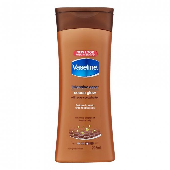 "Intensive Care Cocoa Glow Body Lotion, $5.39 by Vaseline at [Priceline](https://www.priceline.com.au/skincare/hand-and-body/body-moisturisers/vaseline-intensive-care-body-lotion-cocoa-glow-225-ml|target=""_blank""