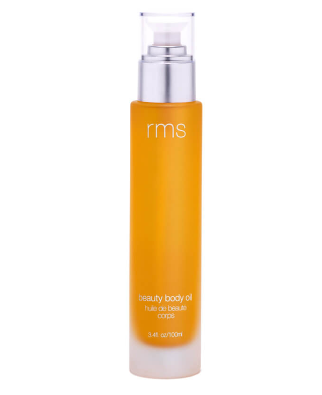"Beauty Body Oil, $103 by RMS Beauty at [MECCA](https://www.mecca.com.au/rms-beauty/beauty-body-oil/I-036281.html|target=""_blank""