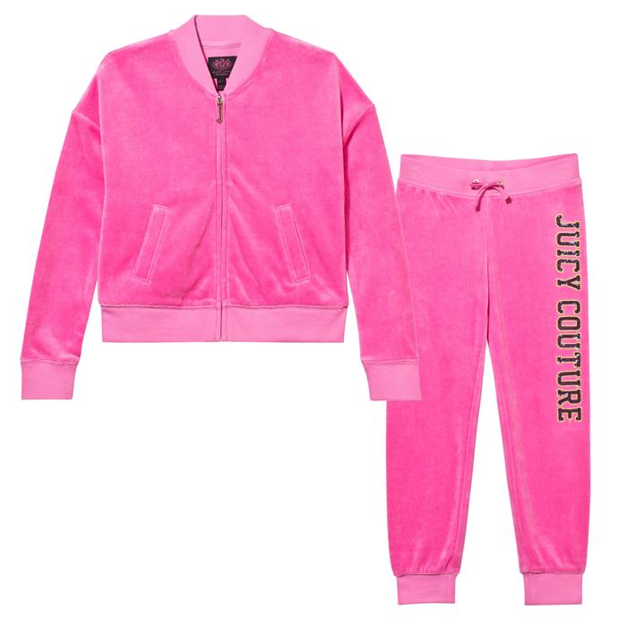 "**Tracksuit Sets** <br><br> There is nothing that says 2001 more than the iconic velour tracksuit. Whether you first bore witness to the trend on Paris Hilton's *The Simple Life* or Jennifer Lopez's ""I'm Real"" music video, the pink Juicy Couture tracksuit was on every teenager's wishlist. And if you managed to score yourself one, it was a no-deal unless the word ""Juicy"" was embellished on your tush."