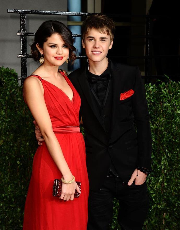 Bieber with his ex-girlfriend, Selena Gomez.