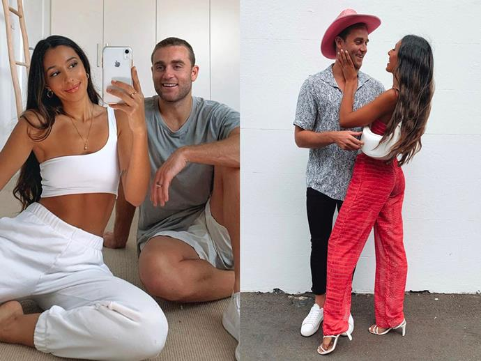"""**DATING:** Josh Moss and Amelia Marni from *Love Island Australia* Season 1<br><br> Since their season of *Love Island* hit the screens, the pair seem to be going from strength to strength. The pair even made their relationship official after the show, with Moss setting up a lavish surprise to ask Marni to be his girlfriend. <br><br> """"Well guys it's official! I just asked @ameliamarni to be my girlfriend and she said yes!! Absolutely over the moon that I got to meet this beautiful person and can now happily say she's a part of my life,"""" Josh wrote on an [Instagram post](https://www.instagram.com/p/BmQbvsSAXIV/?utm_source=ig_embed