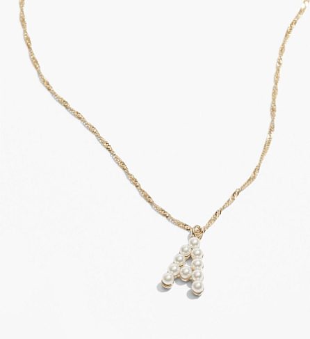 "Initial Pearl Necklace, $49.95 by [Country Road](https://www.countryroad.com.au/shop/woman/jewellery/60254914-9872/Initial-Pearl-Necklace.html|target=""_blank""