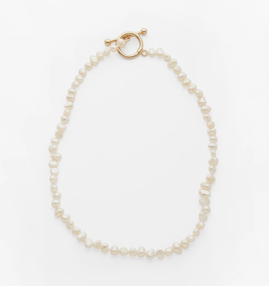 "Maggie Necklace, $169 by [Reliquia](https://reliquiacollective.com/collections/neck/products/maggie-necklace|target=""_blank""