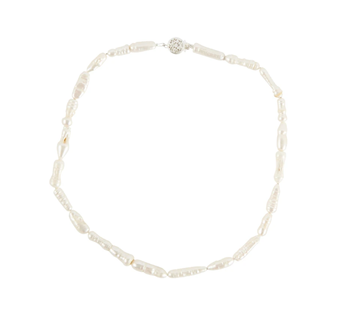 "Eongated Pearl Choker, $380 by [Holly Ryan](https://hollyryan.com.au/collections/necklaces-1/products/elongated-pearl-choker-9ct-gold|target=""_blank""