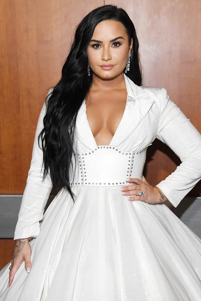 "**Demi Lovato** <br><br> Appearing on *[The Kelly Clarkson Show](https://www.youtube.com/watch?v=Tdi0v8Ukftc&feature=emb_title|target=""_blank""