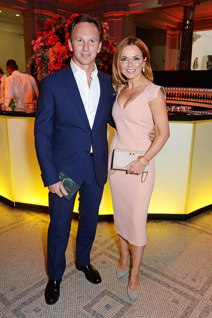 **Geri Halliwell and Christian Horner**<br><br>  The former Spice Girl and Formula One champion share two children together, a daughter named  **Bluebell Madonna** and a son named **Montague George Hector Horner** (say that one three times fast!).