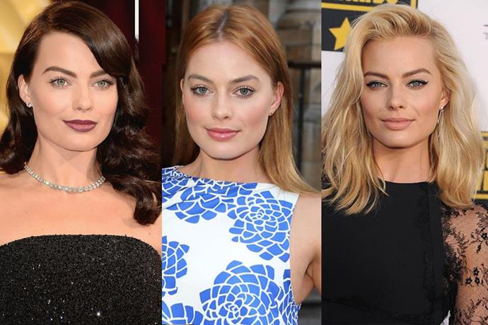"**Margot Robbie**<br><br>  Australian princess and national treasure [Margot Robbie](https://www.elle.com.au/beauty/margot-robbie-before-after-22375|target=""_blank"") briefly flirted with brown and red (totally nailing it), before returning to her bombshell blonde."