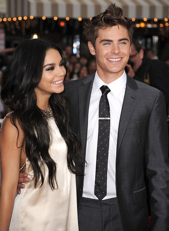 **Vanessa Hudgens and Zac Efron** <br><br> They were our *High School Music* love story and while in real life there is no possible way Vanessa Hudgens is the nerdy girl struggling to be seen, we still shipped. Reports are still conflicting as to what caused the breakup but after nine years together, fans (us) did not take the news well.