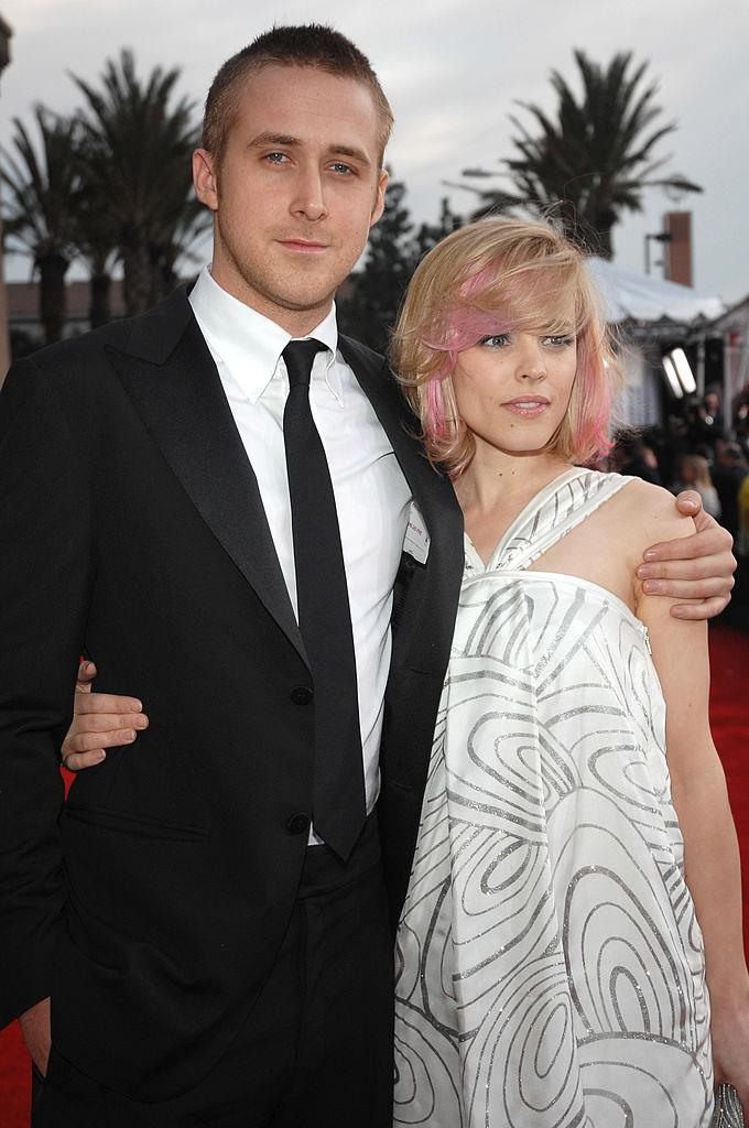 **Ryan Gosling and Rachel McAdams** <br><br> We're pretty sure you'd also fall in love with someone after working so closely together. We're pretty sure you'd fall in love with Ryan Gosling from a very far distance too.
