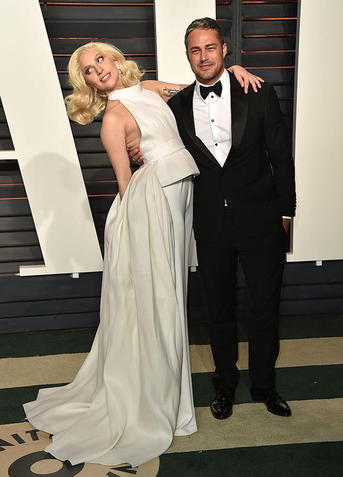 """**Lady Gaga and Taylor Kinney** <br><br> Not many people knew much about this couple but they seemed to be really into each other. Gaga even described them once as """"soulmates"""".After struggling to juggle their respective careers and long-distance, the pair decided to break of their engagement after five years together. <br><br> Gaga's song *A Million Reasons* is said to be about their breakup and if you've listened to it without crying then we salute you."""