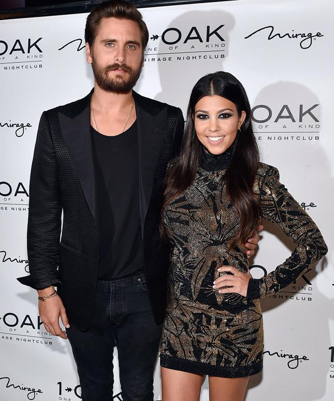 **Kourtney Kardashian and Scott Discick** <br><br> he breakup news didn't shake up our worlds as the collective assumption was that they would get back together for the 400th time, maybe pop out another child and things would go on as usual. But as time went on, the two both moved on, Courtney with Younes Bendjima and Scott with… well, lots of people.  <br><br> A few years later and some clothes sharing and flirty Instagram comments have spurred rumours again about a potential reunion but no matter what happens the pair seem to be close and great co-parents and that's a pretty happy ending.