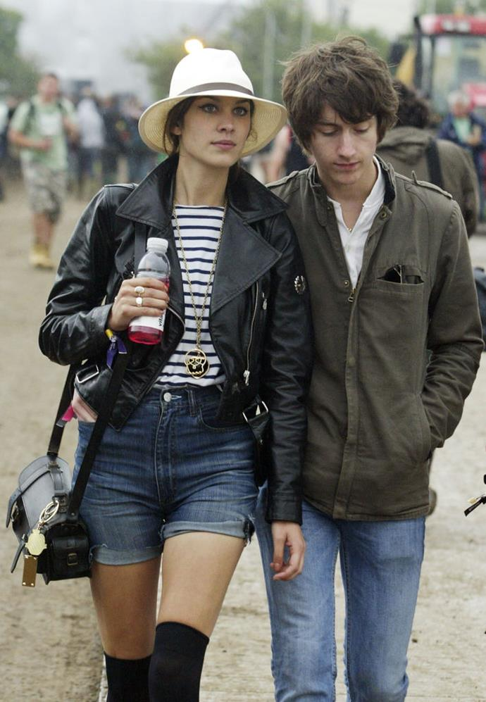 **Alexa Chung and Alex Turner** <br><br> They were the indie couple of our dreams and we wept at their demise. Writing about the breakup in her book *It*, Chung vividly describes her post-split state and her vulnerability which resonated with many a broken heart.