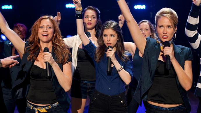 ***Pitch Perfect*** **(1/7/2020)**<br><br>   College student Beca (Anna Kendrick) knows she does not want to be part of a clique, but that's exactly where she finds herself after arriving at her new school. Thrust in among mean gals, nice gals and just plain weird gals, Beca finds that the only thing they have in common is how well they sing together. She takes the women of the group out of their comfort zone of traditional arrangements and into a world of amazing harmonic combinations in a fight to the top of college music competitions.