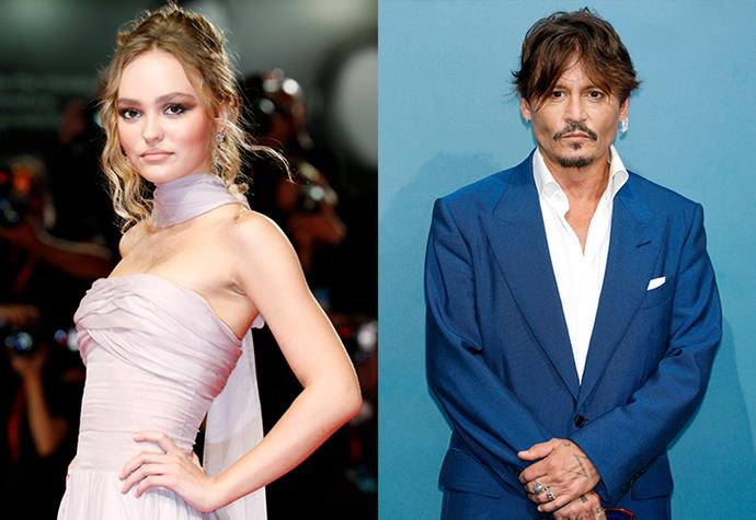 **Lily-Rose Depp** <br><br> If the matching surnames didn't give it away, Lily-Rose Depp is the daughter of actor Johnny Depp and French musician and model Vanessa Paradis. If her A-lister parents weren't enough, her godfather happens to be controversial musician Marilyn Manson. <br><br> Rising to fame, Lily-Rose Depp recently starred in Netflix's *The King*, and has already claimed a 'Best Actress' title for her work in *My Last Lullaby* at only 20 years of age.