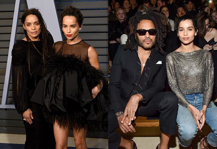 """**Zoë Kravitz** <br><br> Zoë Kravitz may be your ultimate girl crush, but her parents were just as effortlessly cool, and successful. Her mother, Her mother, Lisa Bonet, is an actor who rose to fame during her time on *The Crosby Show*. While her father, Lenny Kravitz, is a famous musician, whose iconic songs, like """"American Woman"""" and """"Fly Away"""", have earned him accolades. <br><br> However, their daughter Zoë has consistently taken the acting world by storm, appearing in hits like *Big Little Lies* and *Mad Max: Fury Road*. Besides, her impeccable style and cool-girl persona has her loved by many."""