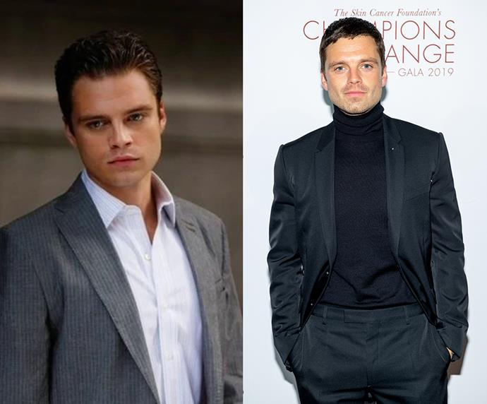 **Sebastian Stan (Carter Baizen)** <br><br> The notoriously charming, yet cunning Carter Baizen was *Gossip Girl*'s resident nemesis. Popping up only when trouble was near, Sebastian Stan's character was last seen being kicked out of Serena's limo after she caught him lying. Since the series, Stan has kept himself busy. He went on to star in *Black Swan*, *Political Animals* and the *Avengers* franchise as Bucky Barnes, to name a few.
