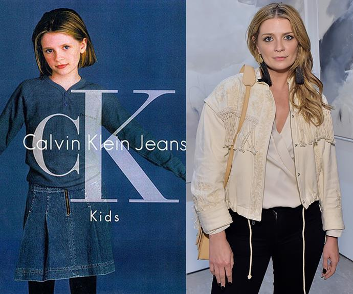 **Mischa Barton** <br> While most of us were first introduced to Mischa Barton on *The O.C.*, her rise to fame was likely thanks to her avid modelling career for Calvin Klein Jeans. The actress appeared on mutliple ad campaigns for the brand, before she made her big break in the 2000s show *KaBlam!*.
