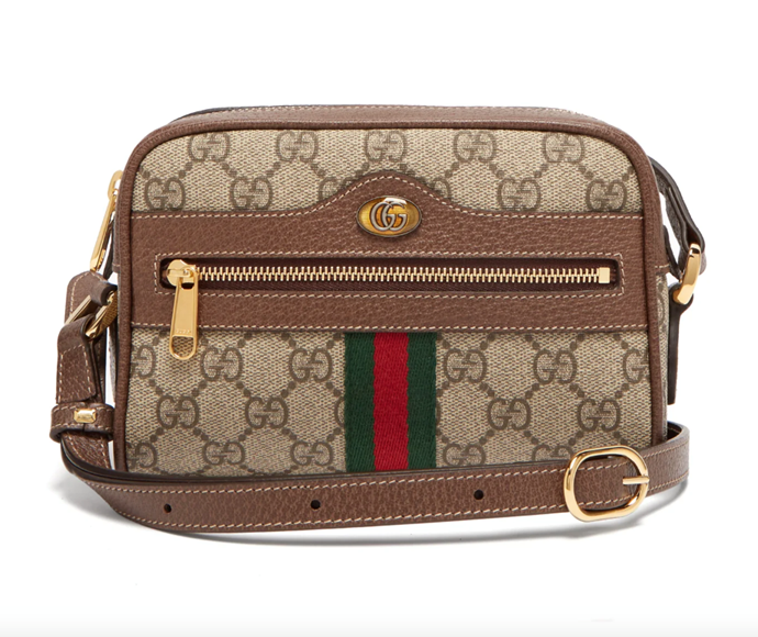 """Ophidia GG Supreme Crossbody Mini Bag, $1,305 by Gucci at [MatchesFashion](https://www.matchesfashion.com/au/products/Gucci-Ophidia-GG-Supreme-cross-body-mini-bag-1247442