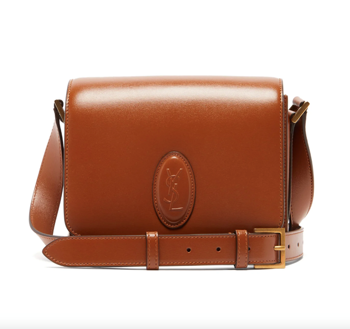 """Le 61 Logo Leather Crossbody Bag, $2,515 by Saint Laurent at [MatchesFashion](https://www.matchesfashion.com/au/products/Saint-Laurent-Le-61-logo-leather-cross-body-bag-1325409