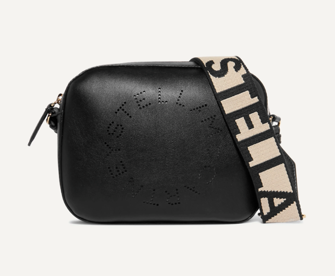 """Perforated Faux Leather Camera Bag, $880 by Stella McCartney at [Net-A-Porter](https://www.net-a-porter.com/en-au/shop/product/stella-mccartney/perforated-faux-leather-camera-bag/1185649
