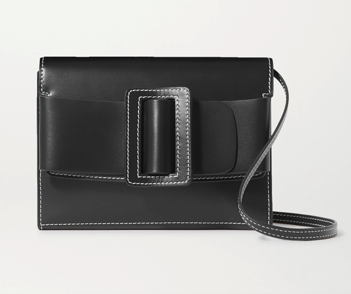"Buckle Leather Shoulder Bag, $679.59 by BOYY at [Net-A-Porter](https://www.net-a-porter.com/en-au/shop/product/boyy/buckle-leather-shoulder-bag/1236184|target=""_blank""|rel=""nofollow"")."