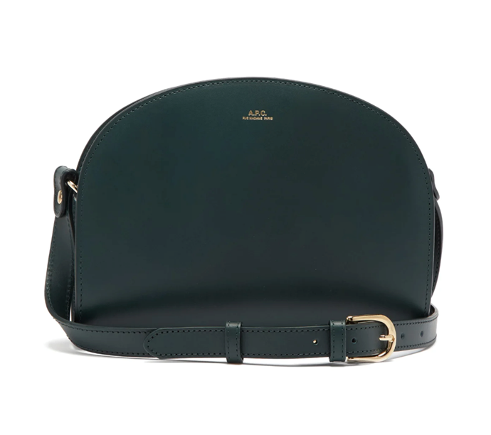 """Half Moon Smooth-leather Crossbody Bag, $655 by [A.P.C](https://www.matchesfashion.com/au/products/A-P-C--Half-Moon-smooth-leather-cross-body-bag-1355975