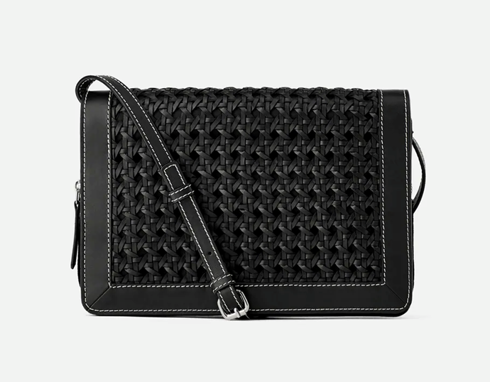 "Plaited Leather Crossbody Bag, $69.95 by [Zara](https://www.zara.com/au/en/plaited-leather-crossbody-bag-p11444004.html?v1=38751880&v2=1547668|target=""_blank""|rel=""nofollow"")."