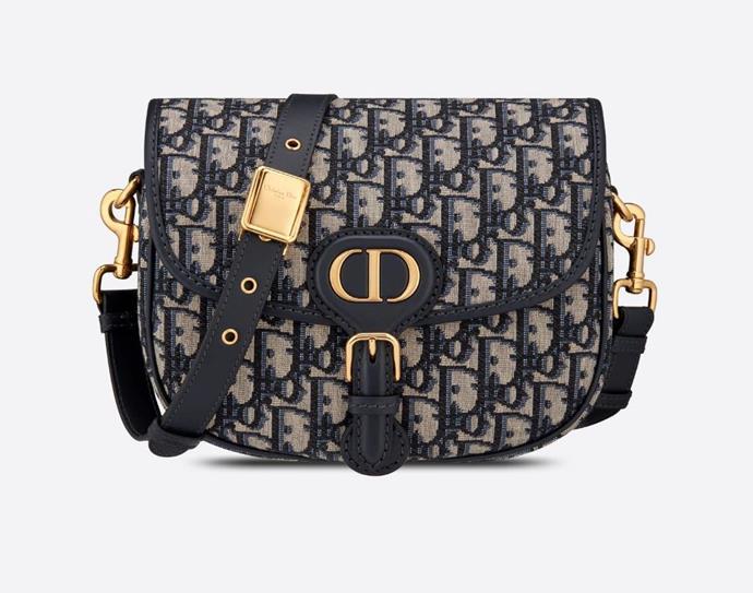 "Medium Bobby Bag in Blue Dior Oblique Jacquard, $POA by [Dior](https://www.dior.com/en_int/products/couture-M9319UTZQ_M928-medium-dior-bobby-bag-blue-dior-oblique-jacquard|target=""_blank""|rel=""nofollow"")."
