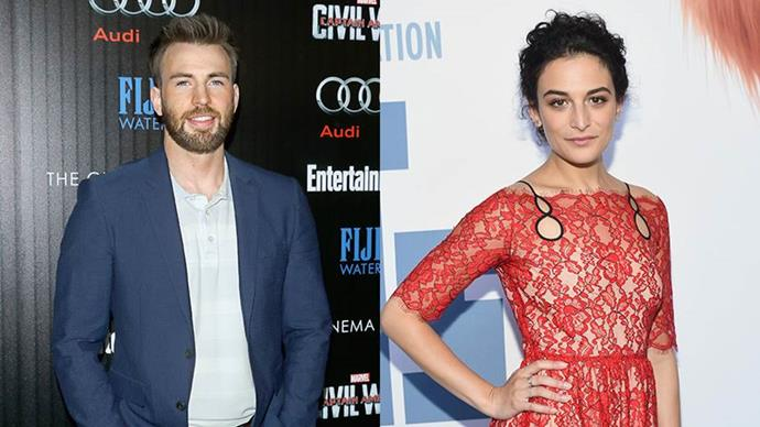 """**Chris Evans and Jenny Slate** <br><br> Evans and Slate were first confirmed to be dating in June 2016. Surprising us all with their pairing, Slate and Evans relationship become a personal goal to strive for. While together, Slate called Evans [her """"dream"""" boyfriend](http://www.etonline.com/news/191914_jenny_slate_cannot_stop_gushing_over_dream_boyfriend_chris_evans/
