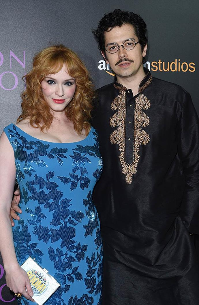 **Christina Hendricks and Geoffrey Arend** <br><br> Hendricks and Arend first met after being introduced by former *Mad Men* co-star Vincent Kartheiser. The couple were then married in October 2009 and were together for 12 years, until their announced their separation in 2019.