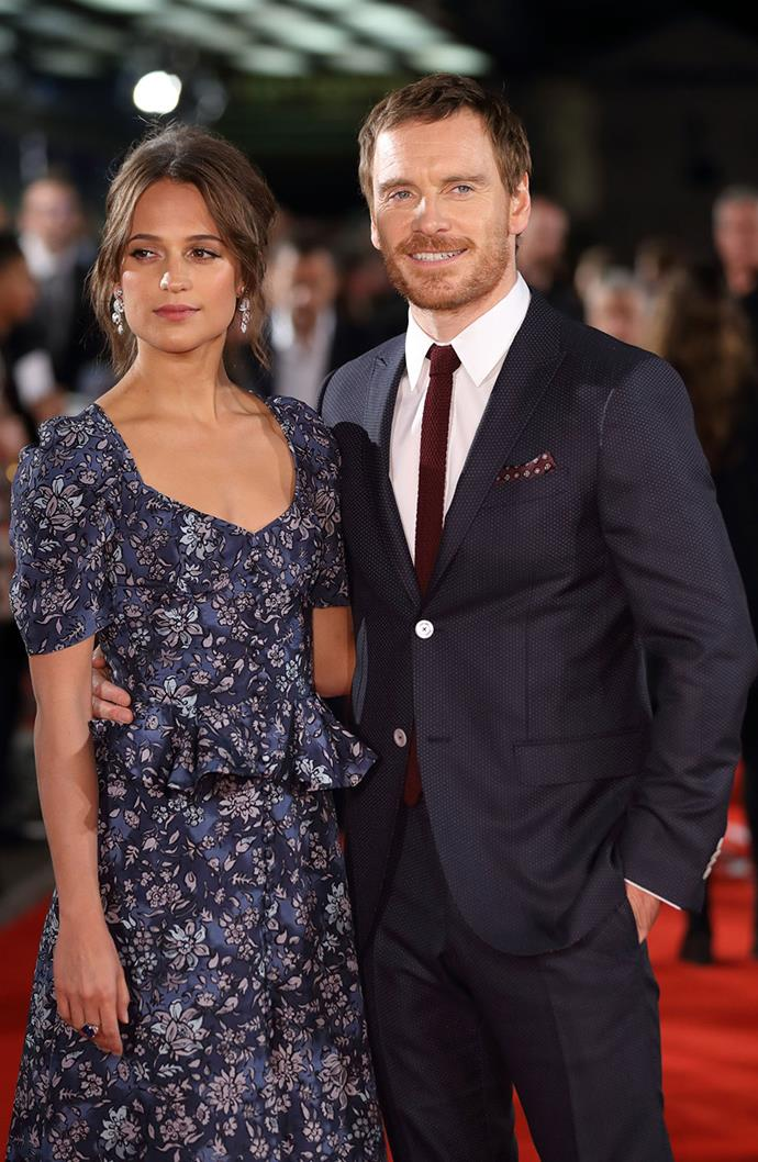 """**Alicia Vikander and Michael Fassbender** <br><br> Meeting on the set of their 2014 film *The Light Between Two Oceans*, the two A-list stars married in a secret ceremony in 2017. One of Hollywood's most elusive couples, the pair make very few public appearances together and have been notoriously tight-lipped when it comes to their relationship.   <br> Speaking to [*Entertainment Weekly*](https://ew.com/article/2016/09/02/michael-fassbender-alicia-vikander-light-between-oceans/