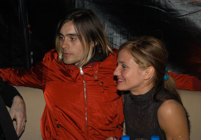 **Cameron Diaz and Jared Leto** <br><br> One would never think that the worlds of Cameron Diaz and Jared Leto would combine, yet the pair did date back in the last '90s. Prior to her romance with Justin Timberlake, Diaz and Leto dated between 1999 to 2004, with the pair even getting engaged.