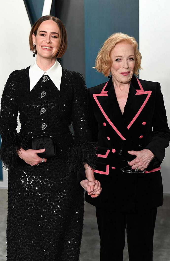 **Sarah Paulson and Holland Taylor** <br><br> Paulson and Taylor take under the radar to a whole new level. The pair began quietly dating back in 2015, after knowing each other for a long time. However, it wasn't until about 10 years after they met, that the two united romantically. Paulson responded to a tweet in which Taylor seemed interested and the rest is history. The lovebirds always join each other on the red carpet, but prefer to keep their private life to themselves.