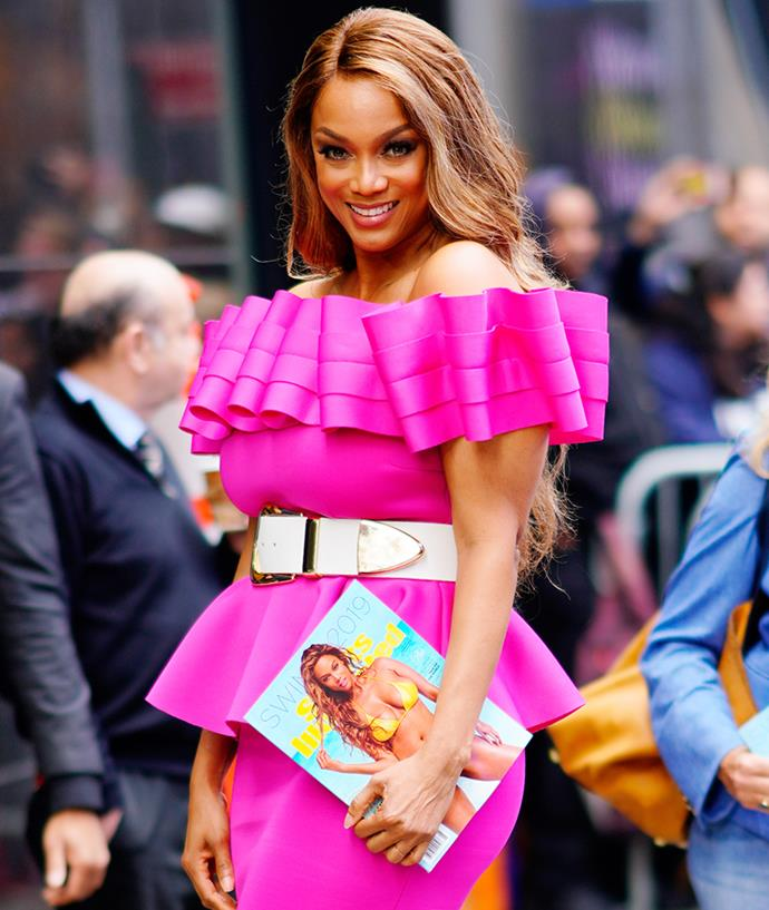 "**Tyra Banks** <br><br> Sharing her strong viewpoint against the harmful nature of photo retouching on social media, Tyra Banks addressed her concerns in an [Instagram post](https://www.instagram.com/p/4CJxW3KQJc/?utm_source=ig_embed|target=""_blank""