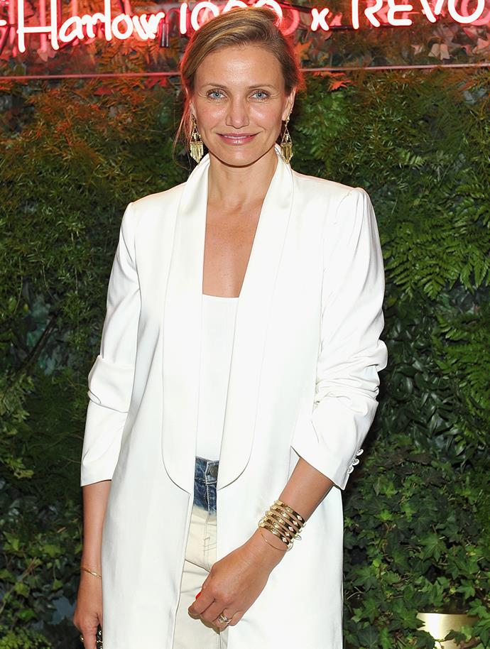 "**Cameron Diaz**<br><br>  Speaking to *[InTouch Weekly](http://www.intouchweekly.com/posts/cameron-diaz-shocks-fans-by-voicing-her-view-on-smoking-one-cigarette-every-once-in-a-while-s-not-going-to-kill-you-35798|target=""_blank""
