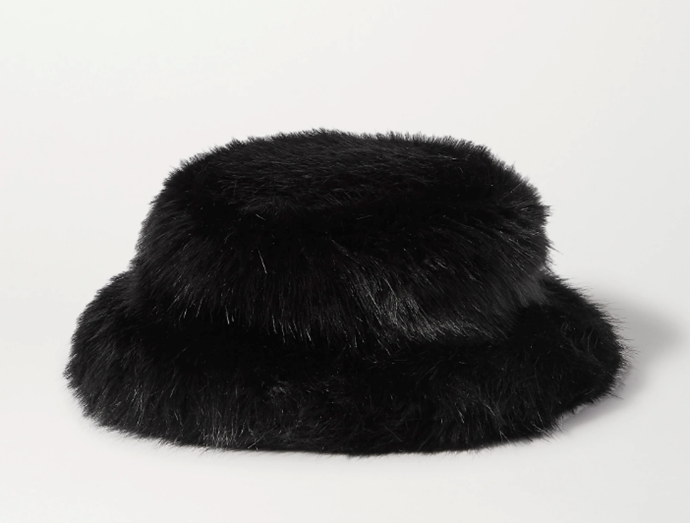 "Faux Fur Bucket Hat, $141.85 by Emma Brewin at [Net-A-Porter](https://www.net-a-porter.com/en-au/shop/product/emma-brewin/faux-fur-bucket-hat/1213177?gclsrc=aw.ds&cm_mmc=Google-ProductSearch-AU--c-_-NAP_EN_AU_PLA-_-NAP+-+AU+-+GS+-+Sale+-+1MD+-+Designer+-+SS20+-+BT--Sale+-+Accessories-_-__aud-534380308060:pla-581929936493_APAC&gclid=Cj0KCQjw0rr4BRCtARIsAB0_48M0Ei-r7TogH-KH1bV2Dguspgf51yGrVXJnkycWRXUwrMkDQxcTUOIaAjgTEALw_wcB&gclsrc=aw.ds|target=""_blank""