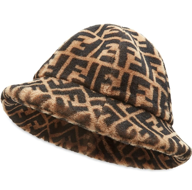 "FF Cloche Hat, $1,550 by Fendi at [Farfetch](https://www.farfetch.com/au/shopping/women/fendi-ff-cloche-hat-item-14213043.aspx?size=21&storeid=10981&utm_source=google&utm_medium=cpc&utm_keywordid=138579864&utm_shoppingproductid=14213043-77&pid=google_search&af_channel=Search&c=10110362569&af_c_id=10110362569&af_siteid=&af_keywords=aud-369354889887:pla-726120804673&af_adset_id=101843891736&af_ad_id=436929439808&af_sub1=138579864&af_sub5=14213043-77&is_retargeting=true&shopping=yes&foundit=yes&gclid=Cj0KCQjw0rr4BRCtARIsAB0_48MmgmkH54s-hr_dP_os7QXagRCMCC6tCd6X2ALNR67PW4i-Afpyk_saAquZEALw_wcB|target=""_blank""
