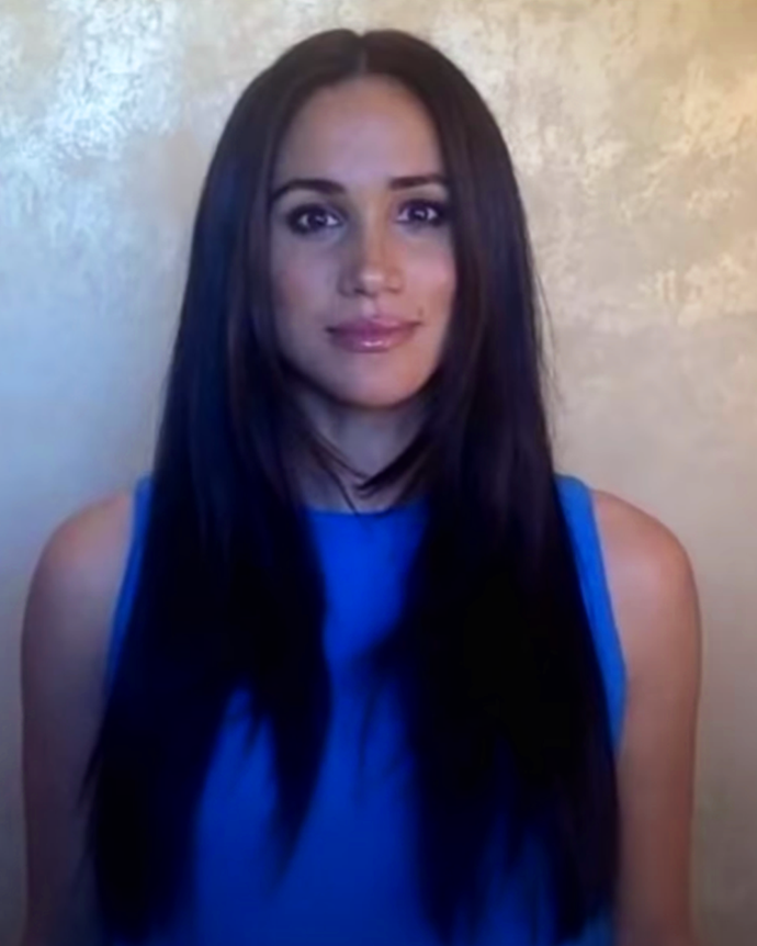 **Meghan Markle**<br></br> The Duchess debuted her longest length ever, showing off a layered straight style via a video presentation.