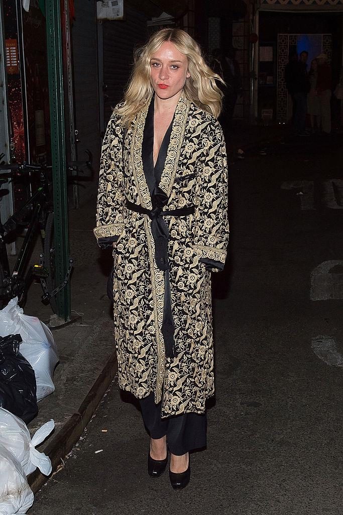***Chloë Sevigny*** <br><br> Because dressing gowns count.