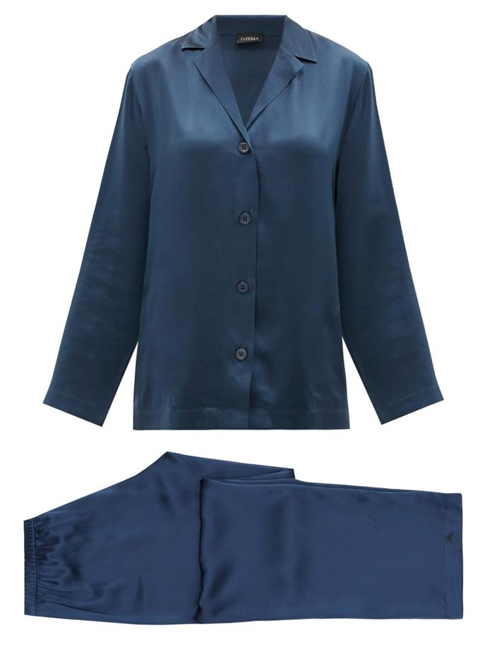 "Silk-charmeuse Pyjamas, $403 by La Perla at [MatchesFashion](https://www.matchesfashion.com/au/products/La-Perla-Silk-charmeuse-pyjamas%09-1361864|target=""_blank""|rel=""nofollow"")."