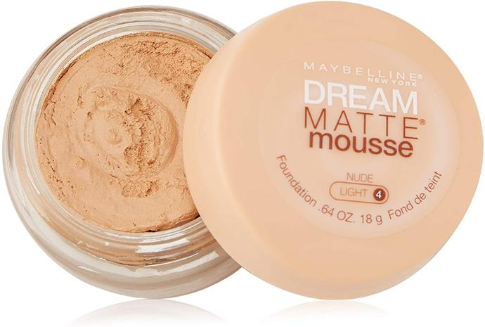 **Maybelline Dream Matte Mousse Foundation** <br><br> This would have been a fine foundation... had we not insisted on wearing ten layers. Our poor teenage pores.