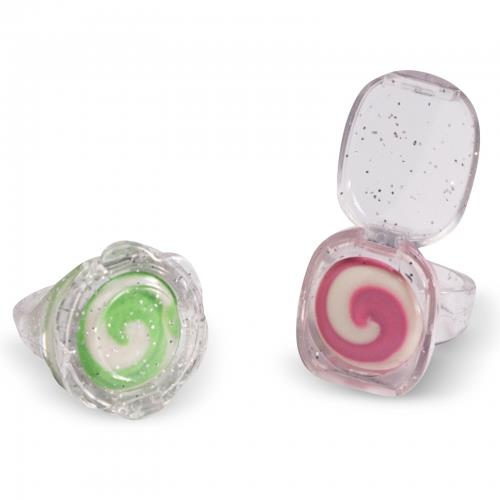 **Lip Gloss Rings** <br><br> Convenient? Sure. Could these become a thing again? No.