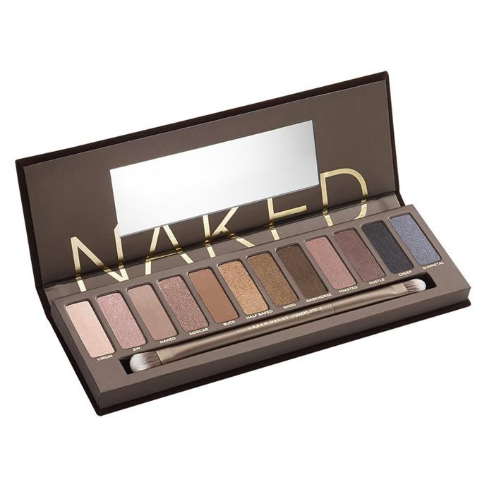 **Urban Decay Naked Eyeshadow Palette** <br><br> With the birth of the Beauty YouTuber came everyone's first *real* eyeshadow palette. Urban Decay has released multiple other versions since.