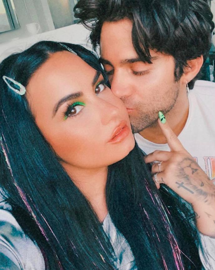 """**Who?** Demi Lovato and Max Ehrich. <br> **How long?** Four months. <br> **Did it last?** After only going public with their relationship during lockdown, the lovebirds recently [got engaged](https://www.instagram.com/p/CC-S49WhMDR/