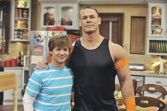 **Jason Earles in *Hannah Montana*** <br><br> **Character Age:** 16 <br><br> **Real Age:** 29 <br><br> If the fact that Earles, who plays Miley Cyrus' brother Jackson in the Disney series, was married for ten years when the show wrapped up doesn't freak you out, then maybe this image of him next to John Cena will. Did we mention they're the same age?
