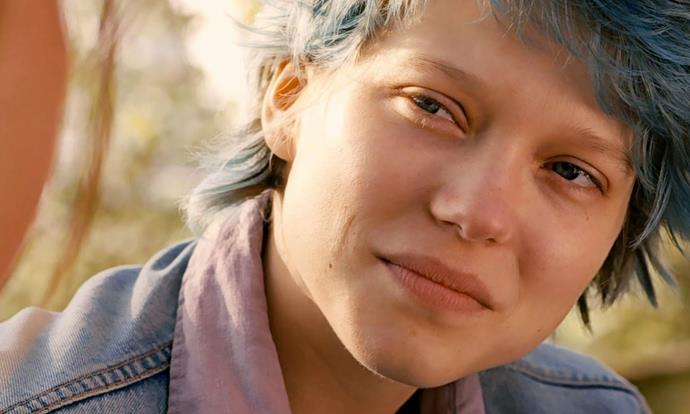 ***Blue Is The Warmest Colour* (2013)** <br><br> **Country/Language:** France/French <br><br> **Where to watch:** SBS On Demand <br><br> A coming-of-age flick about a 15-year-old French teen exploring her sexuality after meeting an older art student at a lesbian bar. Léa Seydoux's most iconic role.