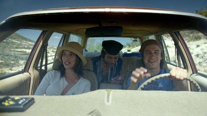 ***Y tu Mamá También* (2001)** <br><br> **Country/Language:** Mexico/Spanish <br><br> **Where to watch:** SBS On Demand <br><br> Two teens road trip across Mexico with an older woman and they all get involved in an... *entanglement*. Nominated for an Oscar for best original screenplay and best foreign language film at the Golden Globes, it's a classic for a reason.